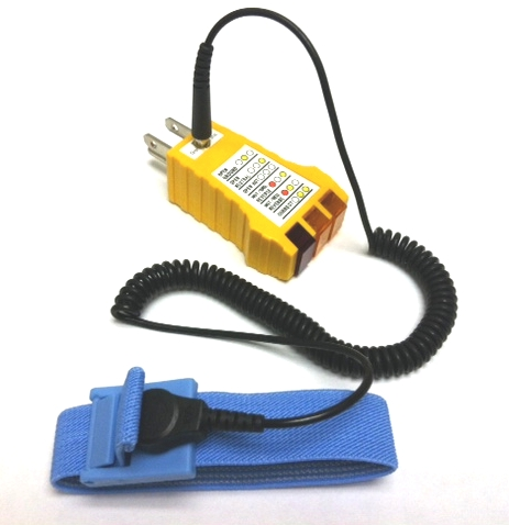 SP-102 Electrical Ground Checker w/ ESD Wrist Strap