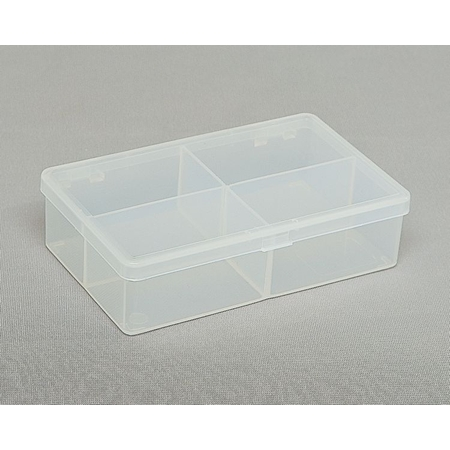 Clear Hinged Plastic Box, 4 5/16
