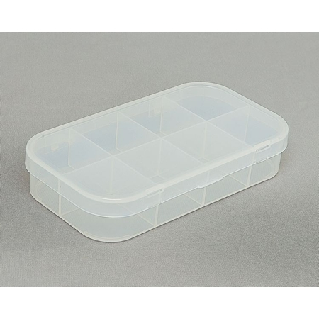 Clear Hinged Plastic Box, 6