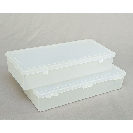 Clear Hinged Plastic Box, 11