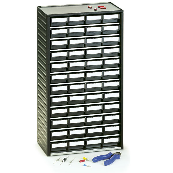 551-4ESD Treston ESD Safe Plastic Storage Cabinet, 48 Drawer