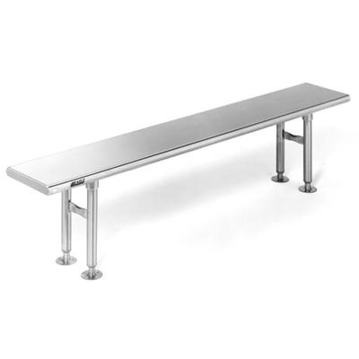 Stainless Steel Gowning Benches Cleanroom Gowning Benches - 36 x 48 stainless steel table