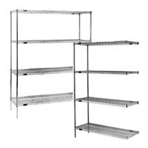 Eagle A4-63-1824C Chrome Wire Shelving Add-on Unit, 18