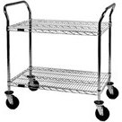 Eagle EU2-1824C Medium Duty 2-Shelf Chrome Wire Cart, 18