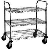 Eagle EU3-2136C Medium Duty 3-Shelf Chrome Wire Cart, 21