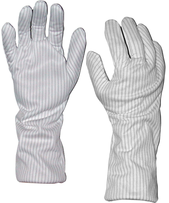 Transforming Technologies GL9100 Series Polyester ESD Safe Hot Gloves, 14