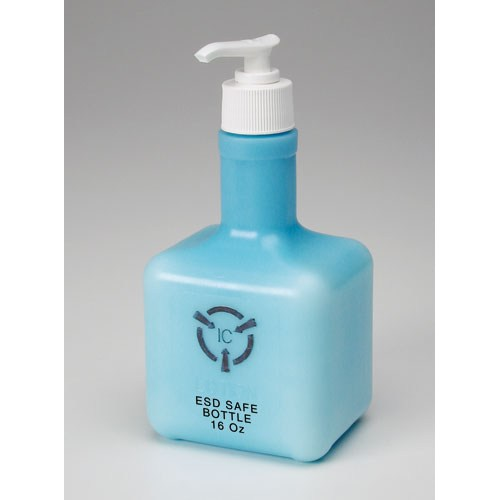 R&R Lotion ICL-16-ESD IC Blue ESD Hand Lotion in an ESD Safe Bottle, 16 oz.