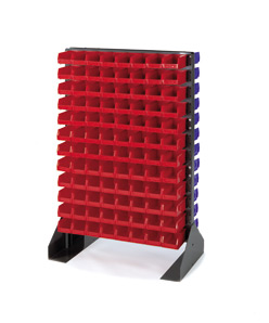 Louvered Panel Floor Stand: Includes Bins, 54