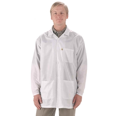Tech Wear LEQ-13 Economy 3/4 Length ESD Lab Coat, White