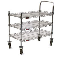 Eagle U3-1836C-RP 3-Shelf Redi-Pak Utility Cart, 18