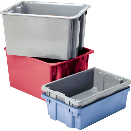 Industrial Stacking Containers : Industrial storage totes warehouse containers correct