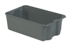 LEWISBins SN2214-8P Plexton Stack-N-Nest Container, 24.3