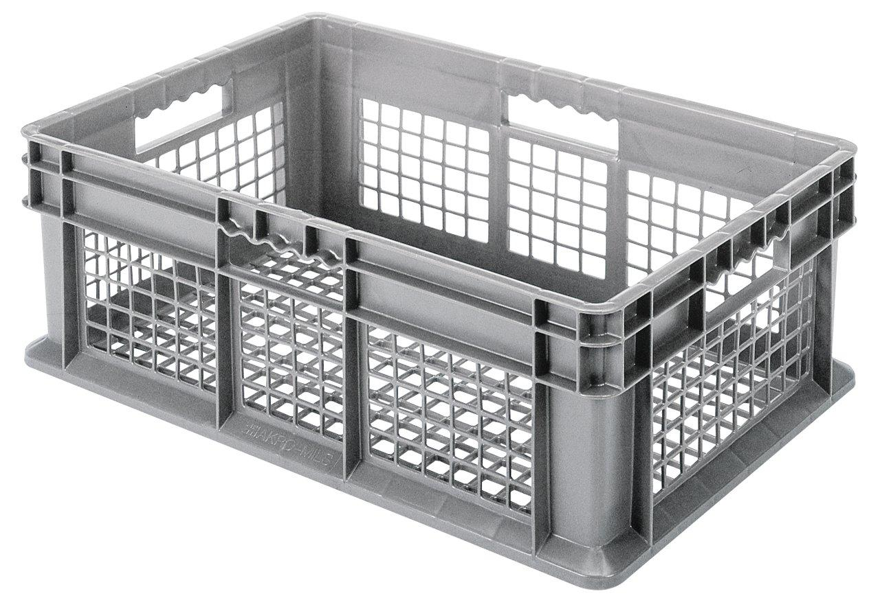 Akro-Mils 37208 Straight Wall Container, Mesh Sides & Base, 15-3/4