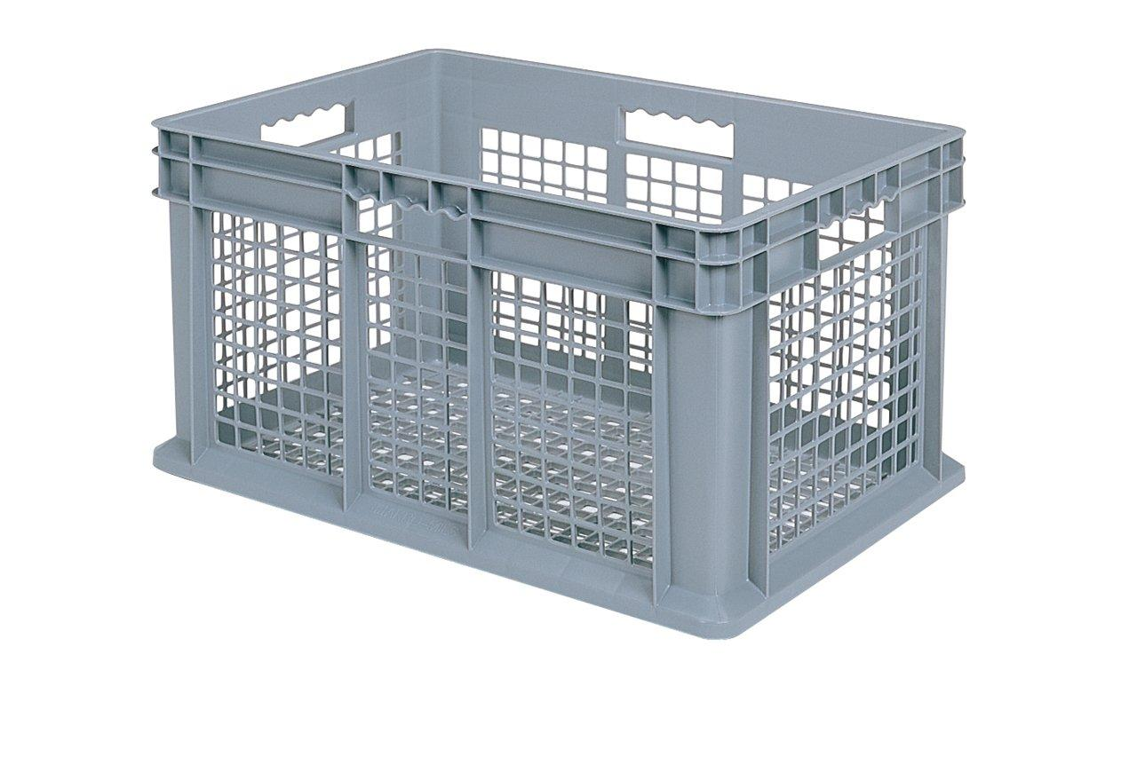 Akro-Mils 37612 Straight Wall Container, Mesh Sides & Base, 23-3/4