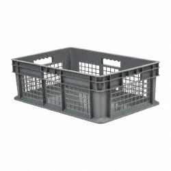 Akro-Mils 37278 Straight Wall Container, Mesh Sides/Solid Base, 15-3/4
