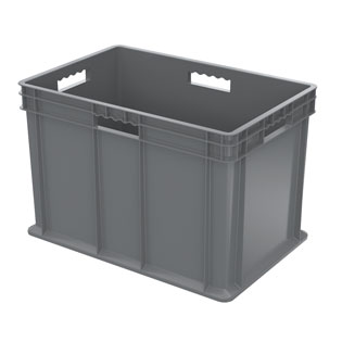 Akro-Mils 37682 Straight Wall Container, Solid Sides & Base, 23-3/4