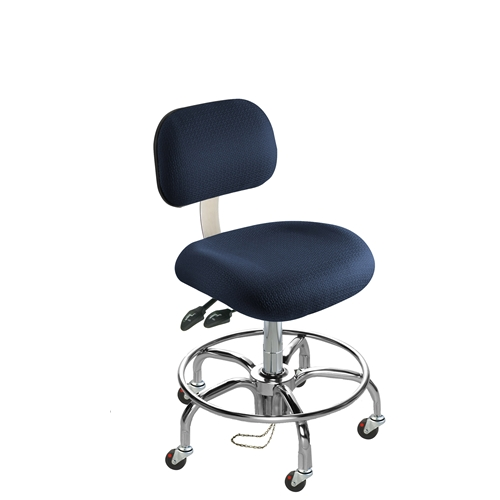 BioFit Eton Series ESD Chair with Conductive Casters, Tubular Steel Base, Standard Bench