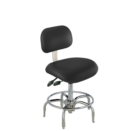 BioFit ETT Series Class 100 ESD Chair w/ Glides, Height Range 21