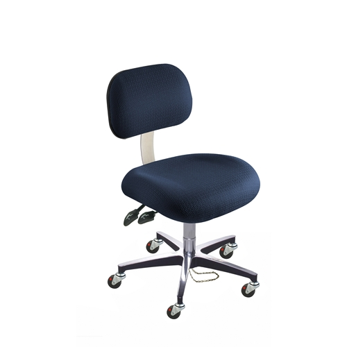 BioFit Eton Series ESD Chair with Conductive Casters, Cast Aluminum Base, Desk Height