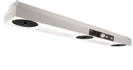 SCS 991A 3-Fan Overhead Ionizer with Integrated Heater & Lighting