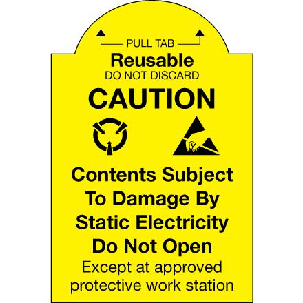 CP5018 Reusable Pull-Tab Caution Label, 2