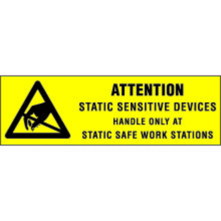 CP5012 Attention Static Sensitive Devices Label, 5/8