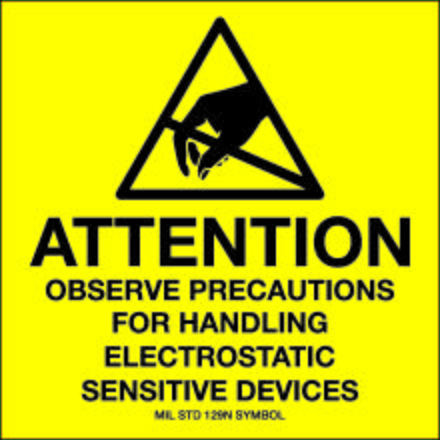 SCS 129LABEL Attention Observe Precautions For Handling Label, 2
