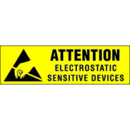 DL9020 Attention Static Sensitive Devices Label, 3/8