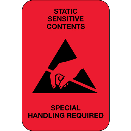 DL1372 Special Handling Required Label, 2