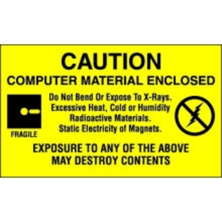 DL9201 Computer Material Enclosed Label, 3