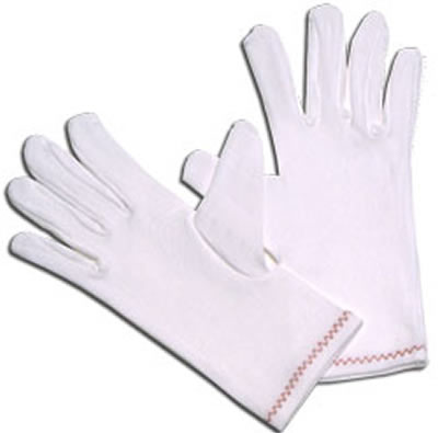 Lint-Free Full Fashion Stretch Nylon Inspection Gloves, 12 Pairs/Pack