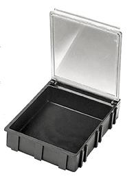SM0883 SMD Conductive Storage Box w/ Clear Lid, 2 11/16
