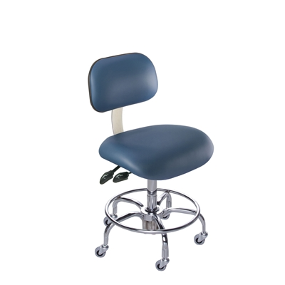 BioFit ETT Series Class 100 Cleanroom Chair w/ Casters, Height Range 23