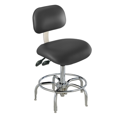 BioFit ETT Series Class 100 Cleanroom Chair w/ Glides, Height Range 21