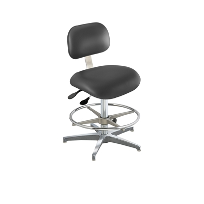 BioFit ETC Series Class 100 Cleanroom Chair w/ Glides, Height Range 22
