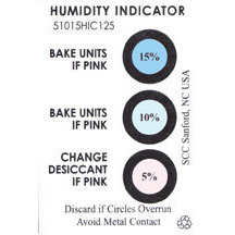 Three Spot Humidity Indicator Card, 5-10-15%, 125/Can