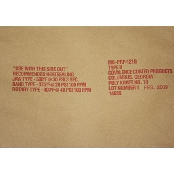 MIL-PRF-121 Kraft/Poly Roll Stock