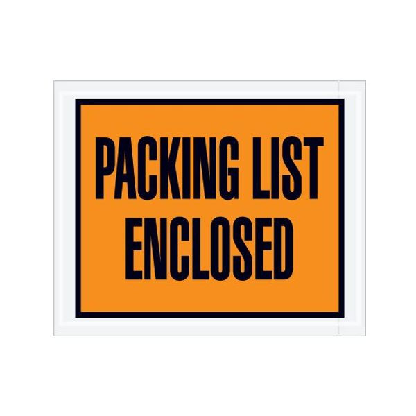 Full Face Packing List Envelopes