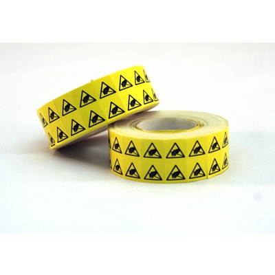 CP5022 ESD Caution Label, Reaching Hand Symbol, .375