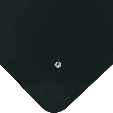 Wearwell 786.916x2x3SMBK Conductive Smooth Rubber Anti-Fatigue Mat, 2' x 3'