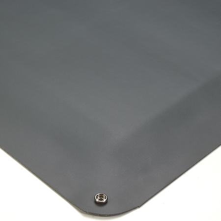 Wearwell 791.12x2x3GY Gray ESD Smooth Vinyl Anti-Fatigue Mat, 2' x 3'