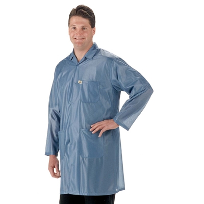 Tech Wear LOC-23 OFX Fabric Lightweight ESD Lab Coat, Blue