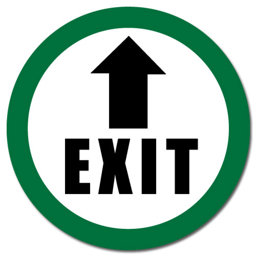 Durastripe Floor Safety Sign Exit Arrow Correct Products